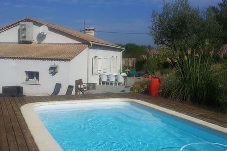 Vrijstaand huis met zwembad - Lézan - Ev