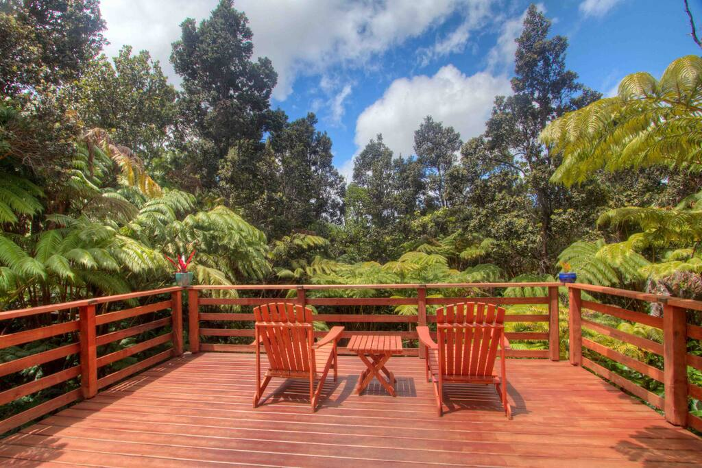 Savor your morning coffee and relish the singing birds from our spacious lanai
