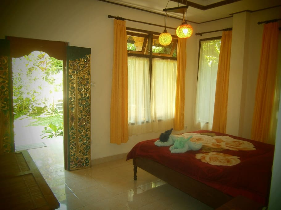 The brightly furnished Lotus View Room
