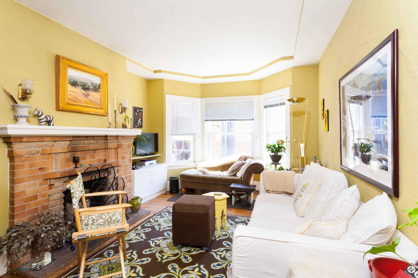 Bright shared living room...