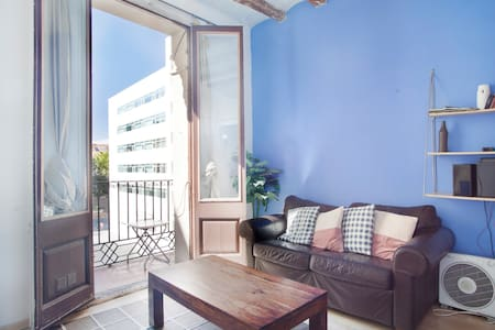 This rental is located in the heart of Barcelona just beaide famous Ramblas , which provides the ideal base for exploring all that Barcelona has to offer . Is located in the center of the historical and cultural, 25 minutes to walk.to the bech!