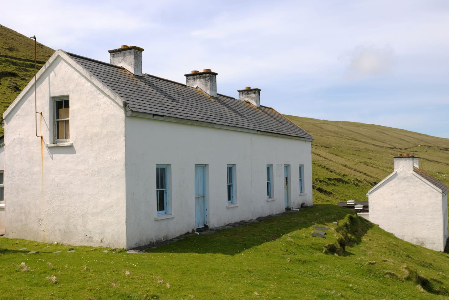 Restored houses on the Island
