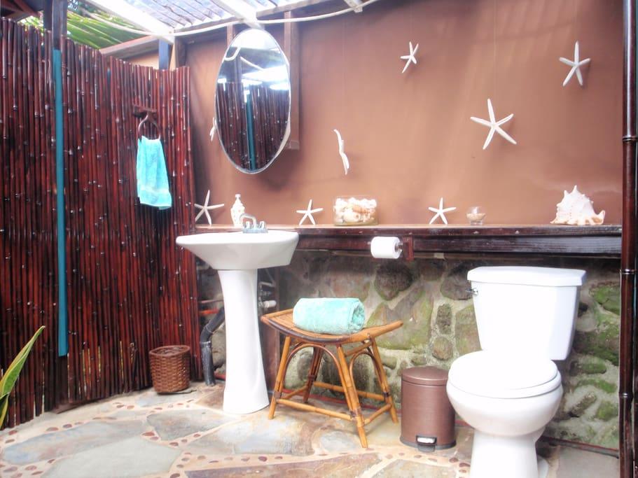 outdoor enclosed bathroom