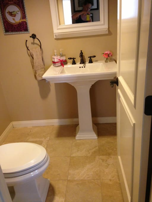 1/2 bath next to dining room.