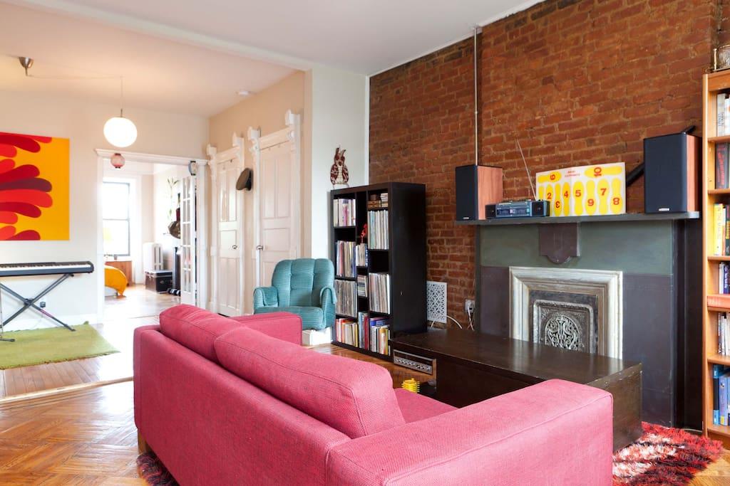 Living room from opposite direction, including music corner