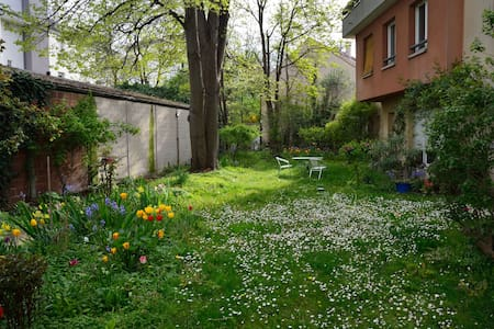 2 pièces avec patio et jardin arboré - Apartament
