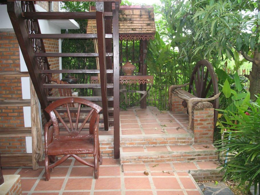 teak house  chiang mai thailand