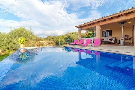 Can Roca - nice villa with pool - Costitx