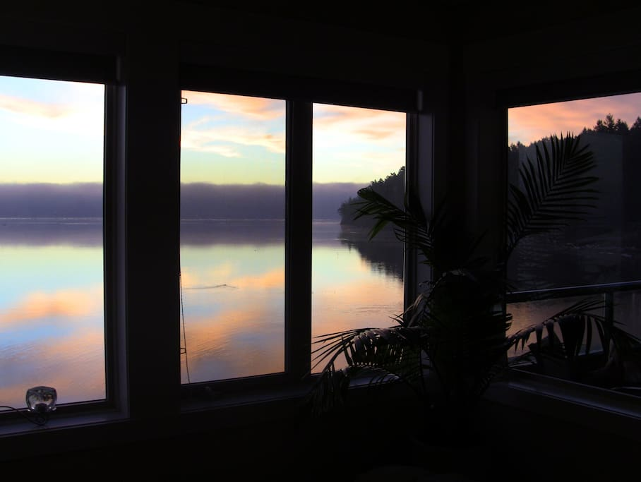 Sunrise from the master bedroom