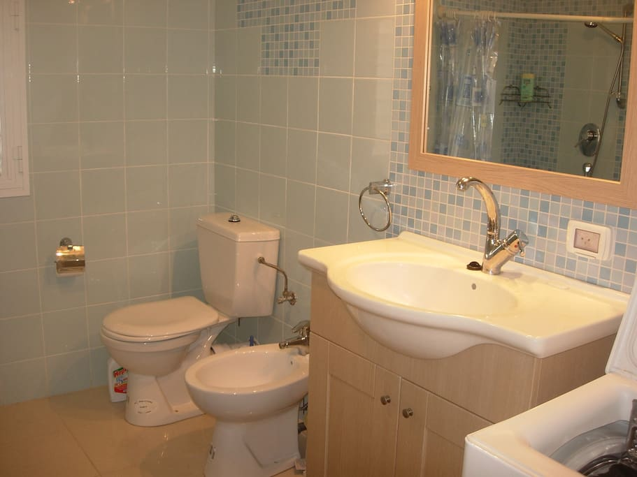 2 Bathrooms whith showers and toilets , one with Bidet.