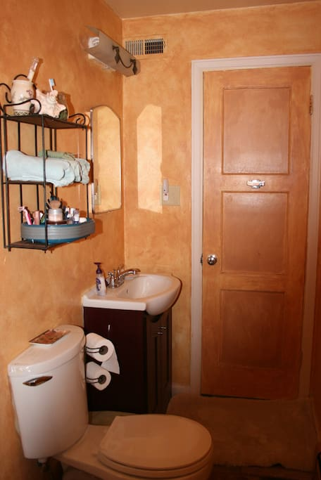 Private bathroom; small but nice!