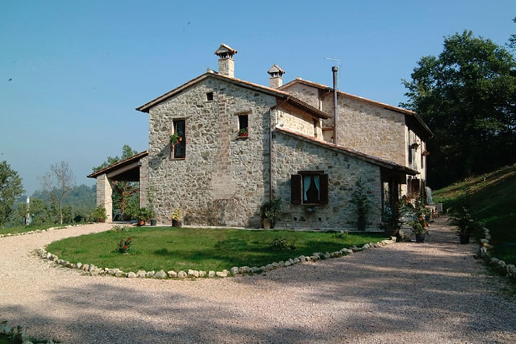 The 17th century stone farmhouse