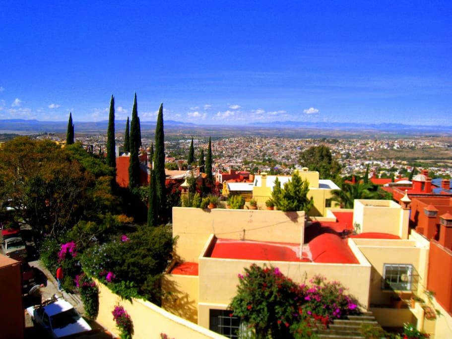 Spectacular views from the Rooftop Terrace, great for drinks & dinner overlooking San Miguel, and hearing the bells of town ring out!
