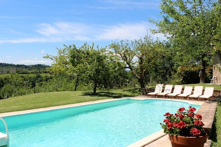 Great Rome countryside villa + pool and guesthouse - Collevecchio - Villa