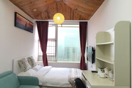 Wooden roof,cozy one bed room/特色木屋顶,近区庄地铁站 - Apartment