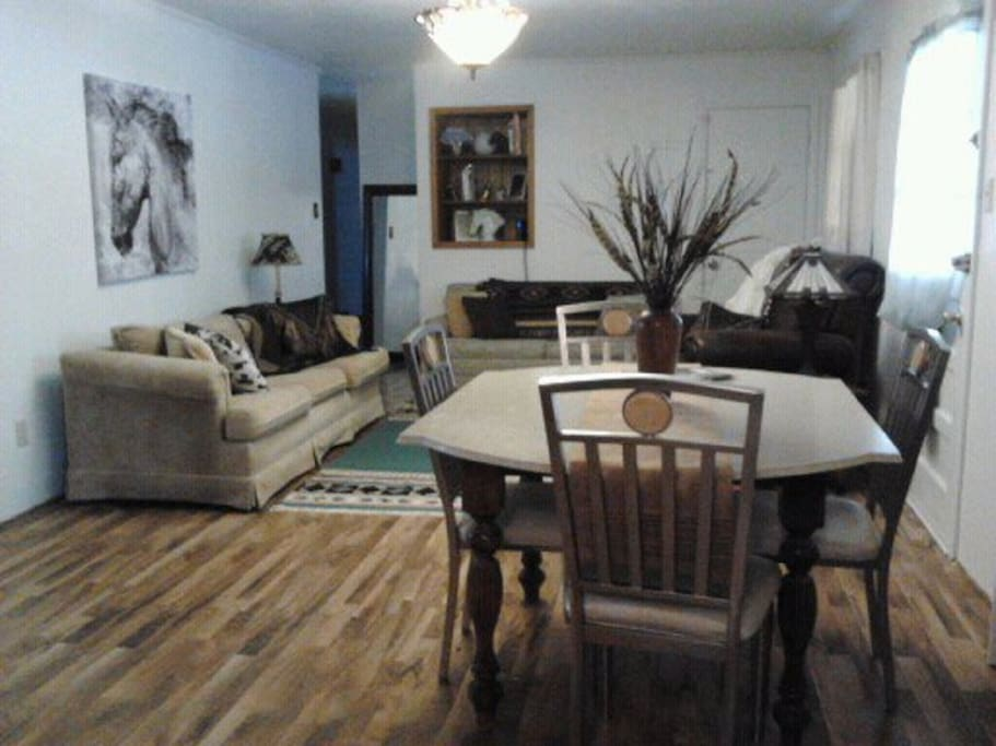 Great Room with Big  Screen TV, 2 Sleeper sofas, DVD player, Dining table seating for 10-12