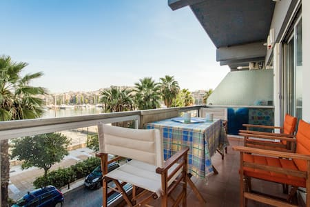 Great View apartment with 2 bedrooms in Marina - Pireas - Leilighet
