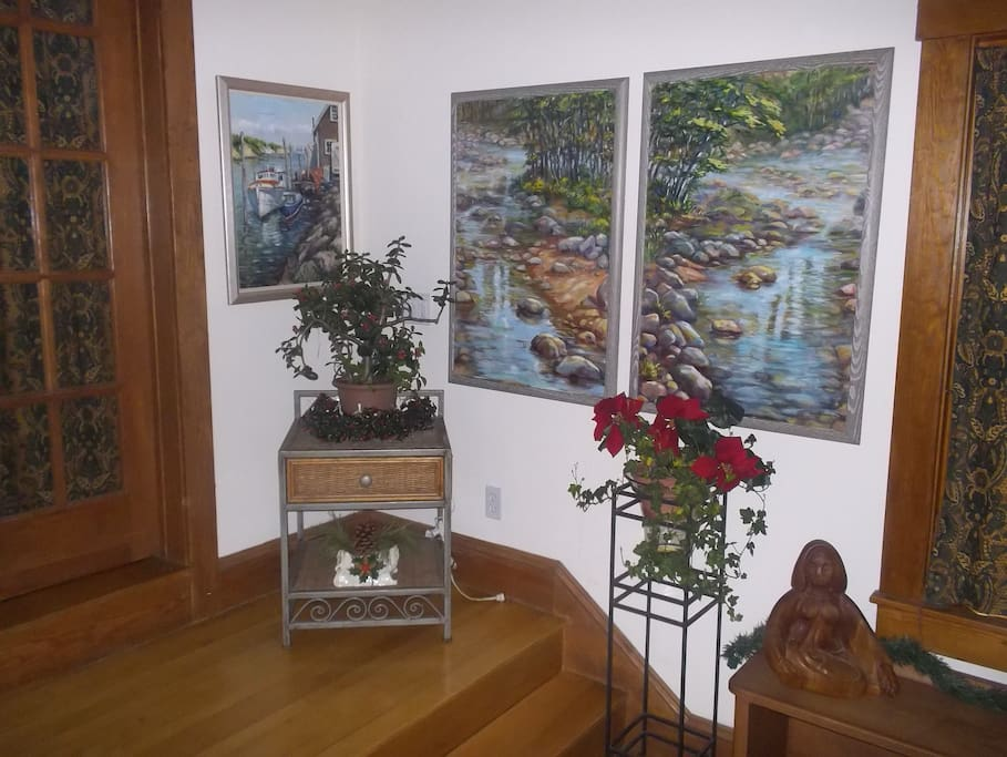 Some of the artwork in the room