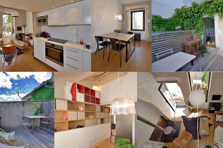 fred's loft (benoit gillet architecte) - terrasse - Appartement