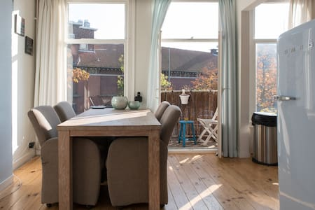 Sunny, spacious flat in de Pijp - Amsterdam - Apartment