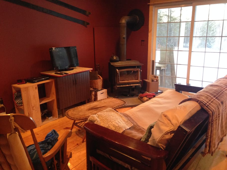 Ladybug ski cottage near okemo cabins for rent in for Kitchen 87 mount holly