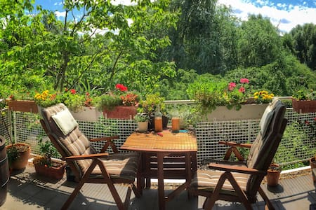 Super nice flat by the lake!  Wifi, BBQ, Nature! - Cologne - Apartment