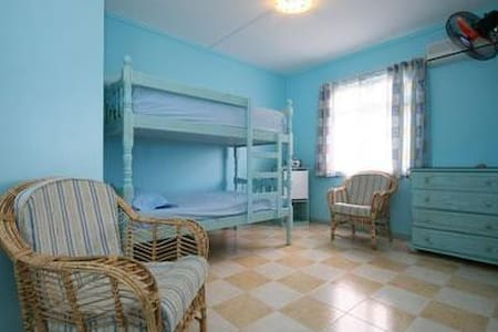 Bedroom with Bunk beds ,aircon,fan. - Blue Bay