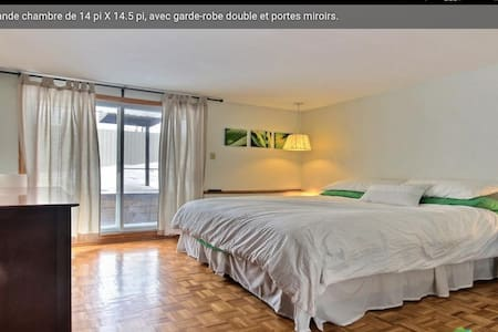 Amazing bedroom near downtown (Longueuil station) - Wohnung