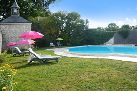 Enchanting mansion with private pool - Neuillé - Slott