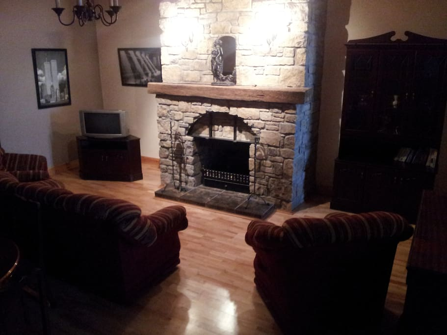 fireplace in Castle View