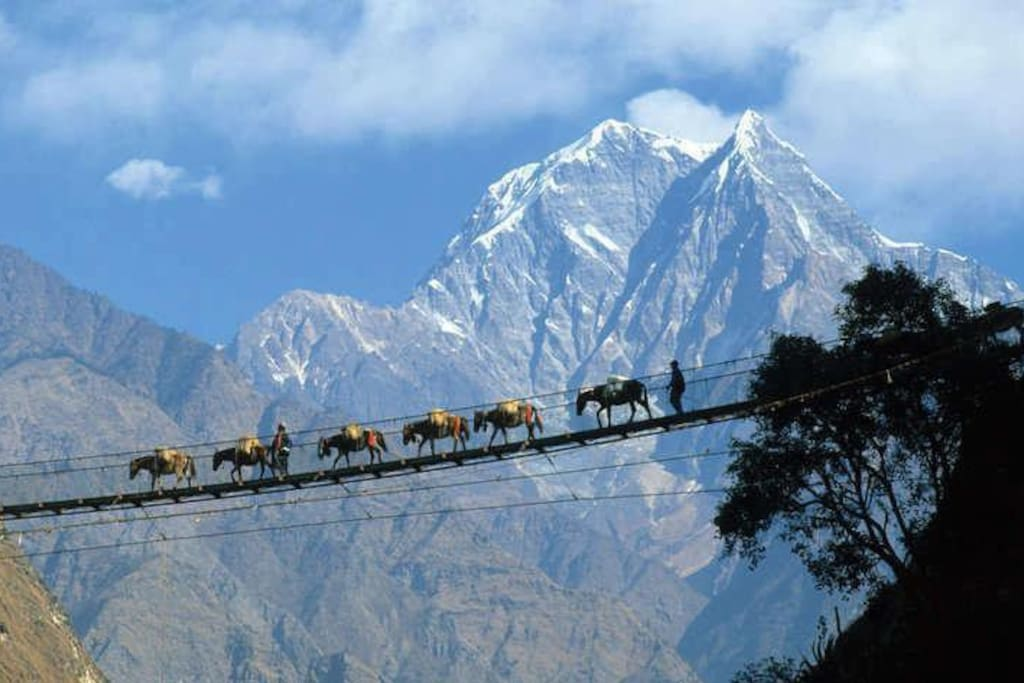 On the way to Everest Trekking.