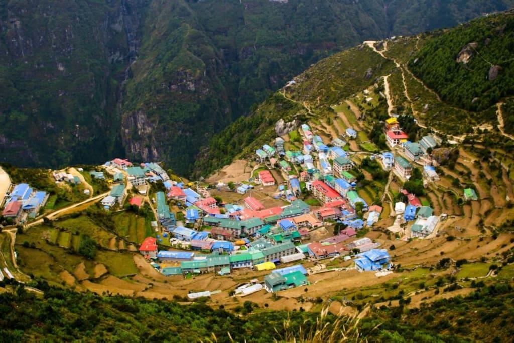 Namche Bazar in Everest Region.
