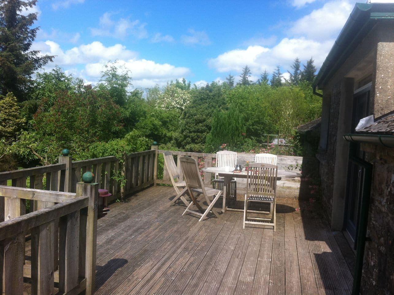 Deck outside apartment