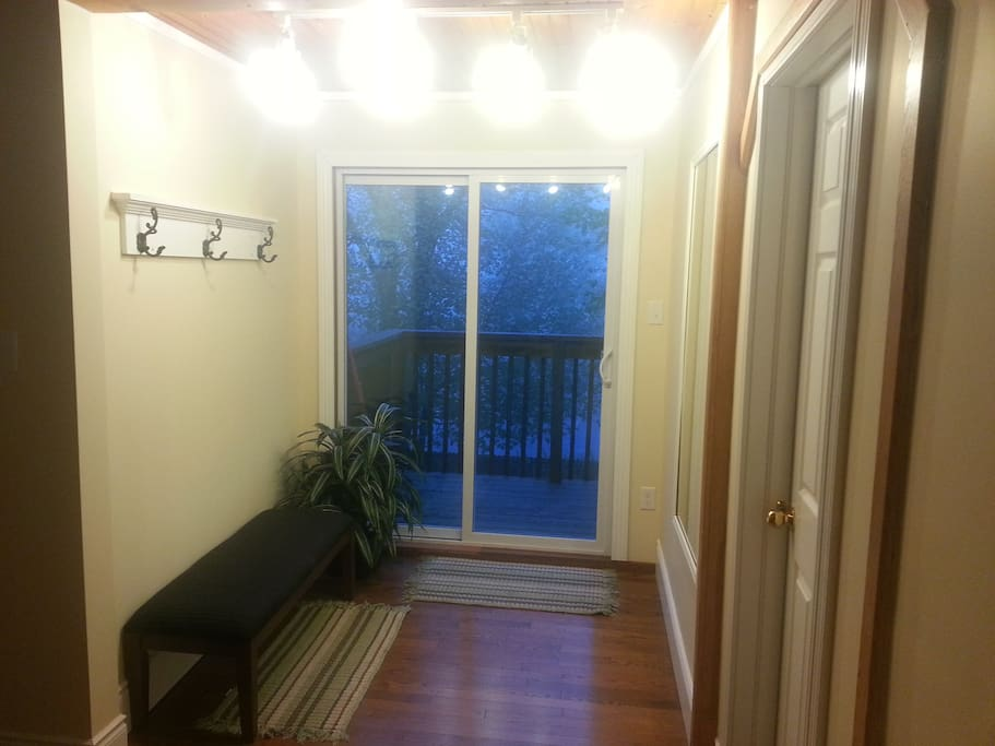 sliding doors to back deck