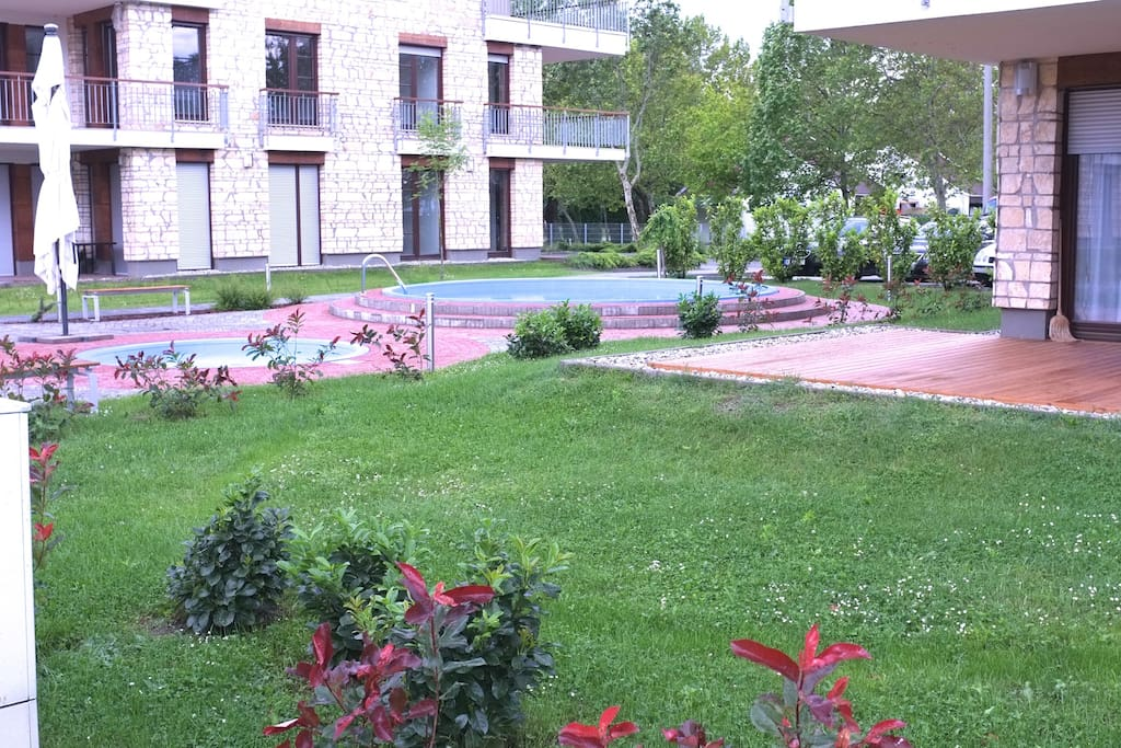The Garden and the pools