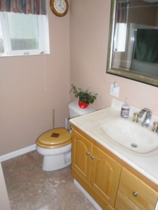 Newly remodeled bath with heated marble floor.....