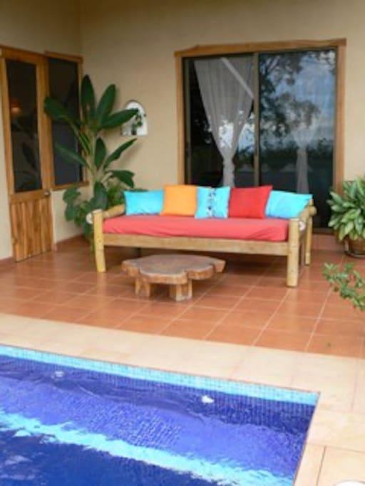 Casa Morfo outdoor living area
