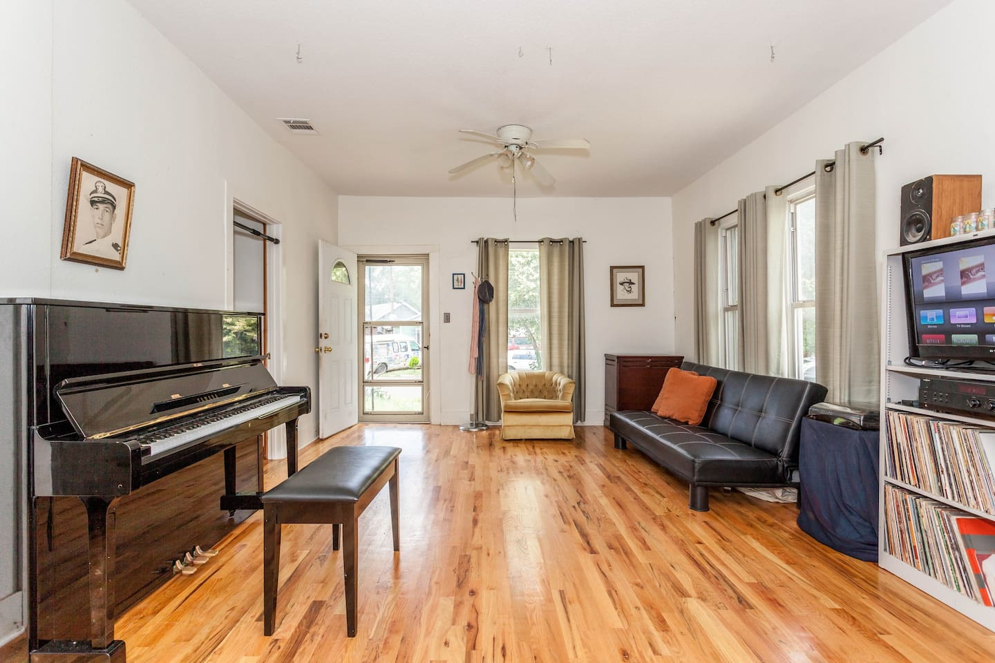 Lots of natural light in the living room.  Very spacious and clean.