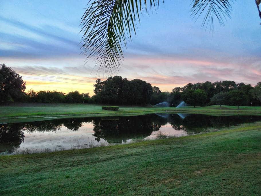 Enjoy the golf course view.