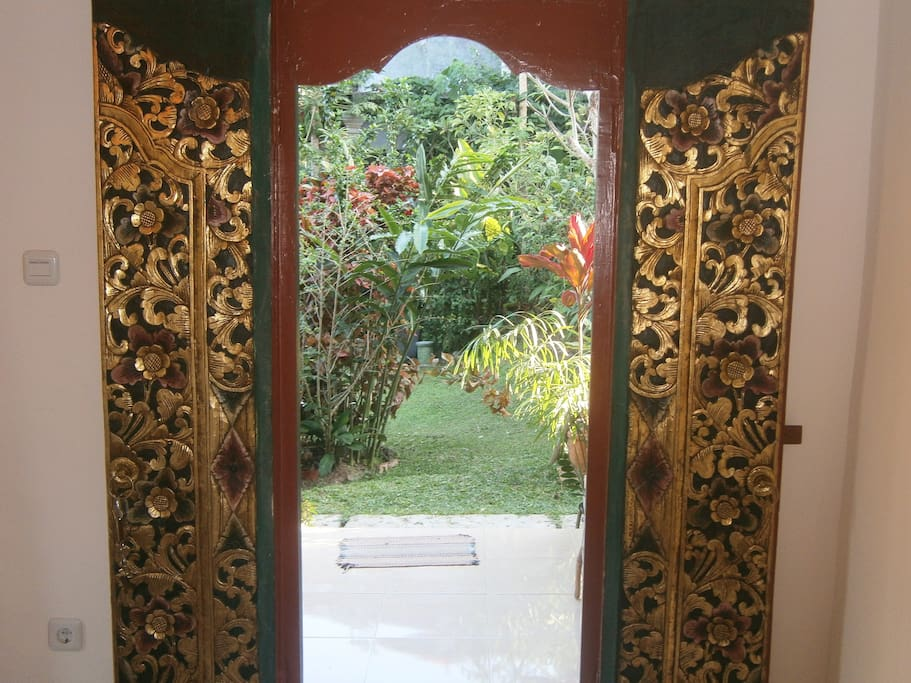 The garden just beyond your Balinese doorway