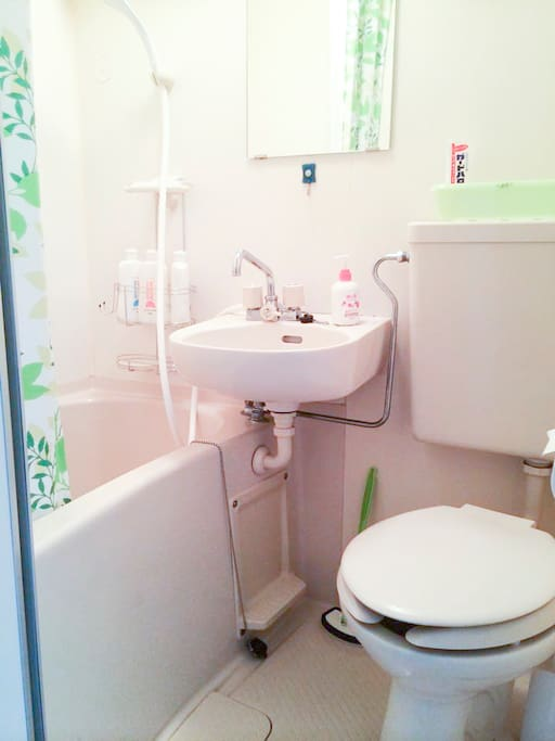 Toilet and bath tub (together)