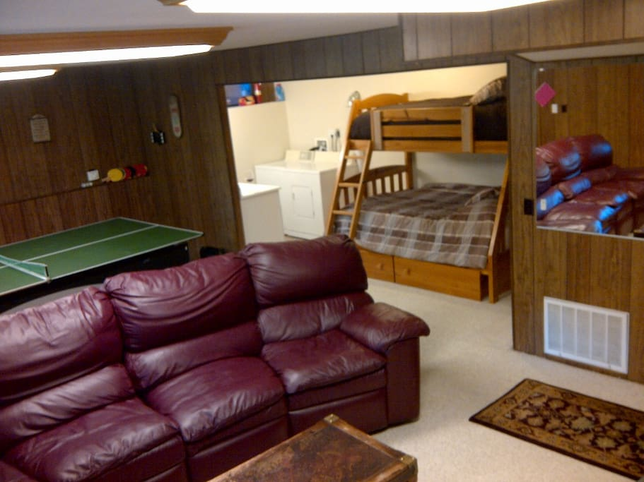 Downstairs Rec Room with Bunks