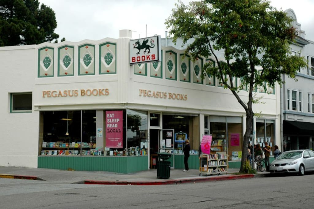 Pegasus Books (within walking distance)
