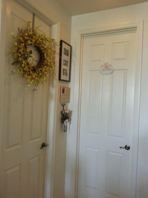 Welcome sign on your door