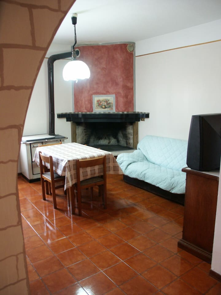 Area soggiorno/ pranzo/ camino