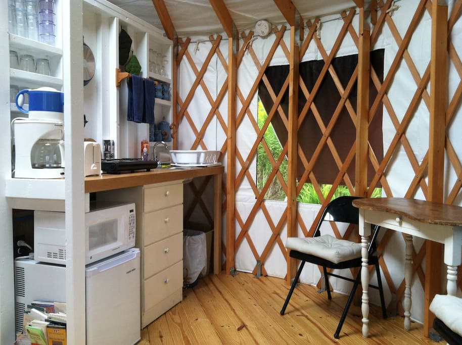 Yurt Kitchen  (No Oven)
