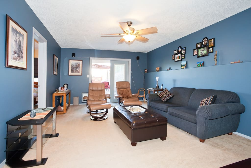 Private use of the Family Room  on the lower level.