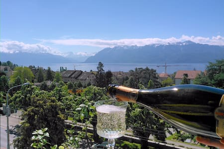 Huge Apartment near Lausanne Center, Stunning View - Pully - Wohnung