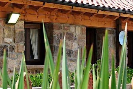 casa en plena montaña,piedra,madera - Hus
