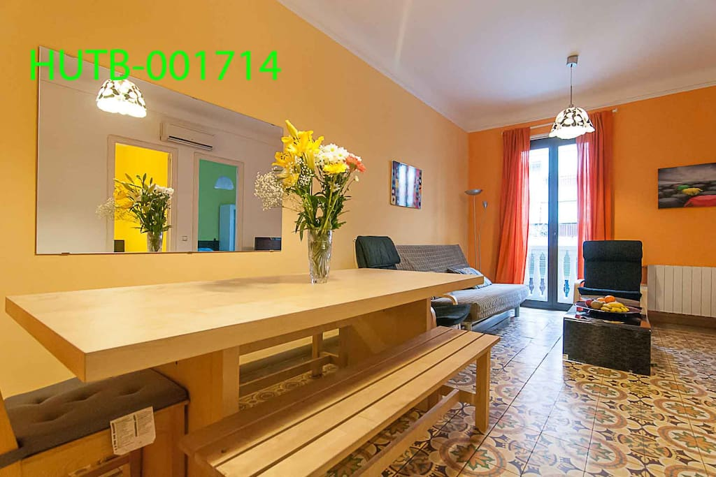 Lounge/diner with table (seats 9), double sofa bed (sleeps 2), flat screen TV an PC station